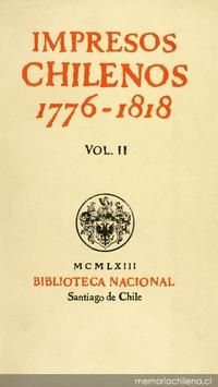 Impresos chilenos: 1776-1818: v. 2
