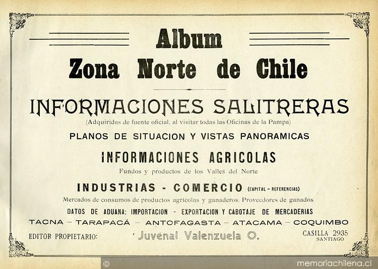 Album zona norte de chile informaciones salitreras las for Marmoles y granitos zona norte