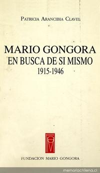 Mario Góngora: en busca de si mismo: 1915-1946