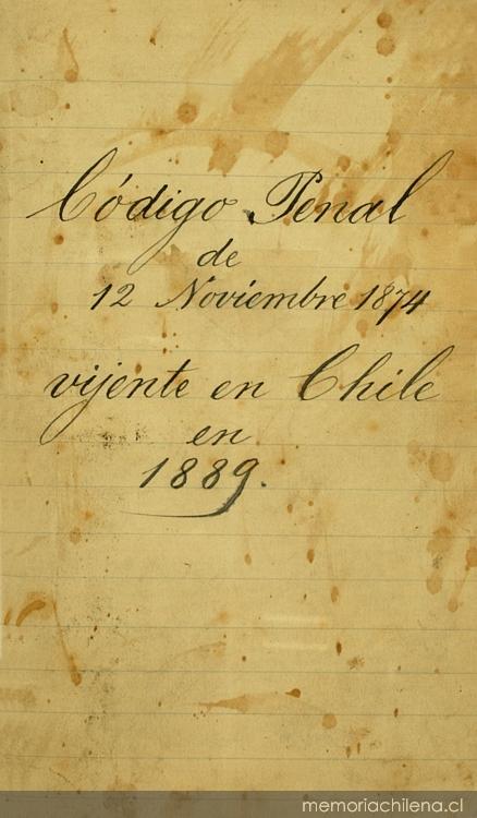 Código penal - Memoria Chilena, Biblioteca Nacional de Chile Maria Carta