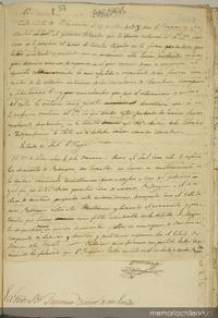 Carta escrita de Sn. Fernando el 21 de mzo. de 1818 por O'Higgins y San Martín al Gobierno Delegado que le servía entonces, el Sr. Dn. Luis Cruz, se le previene el suceso de Cancha Rayada en la forma verdadera ...[manuscrito]