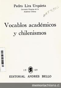 Vocablos académicos y chilenismos