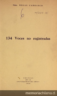 134 voces no registradas
