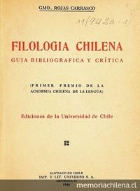 Filología chilena: guía bibliográfica y crítica