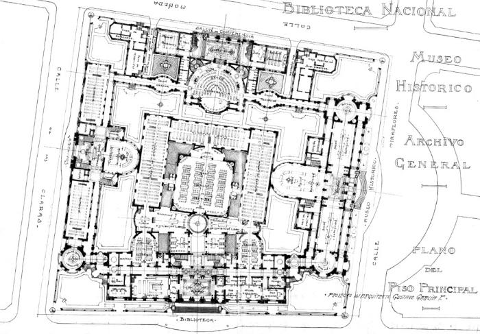 Biblioteca nacional present libro sobre proyecciones for Libros de planos arquitectonicos