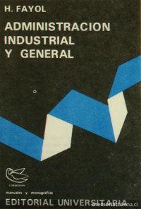 Portada de Administración industrial y general, 1971