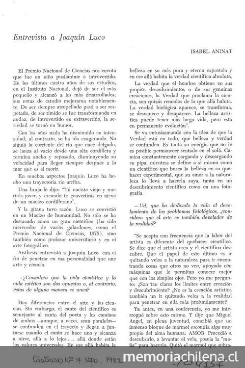 aisthesis revista chilena A parte rei revista de filosfia aesthetics (ed by japanese society for  aesthetics) aisthesis: revista chilena de investigaciones estéticas.