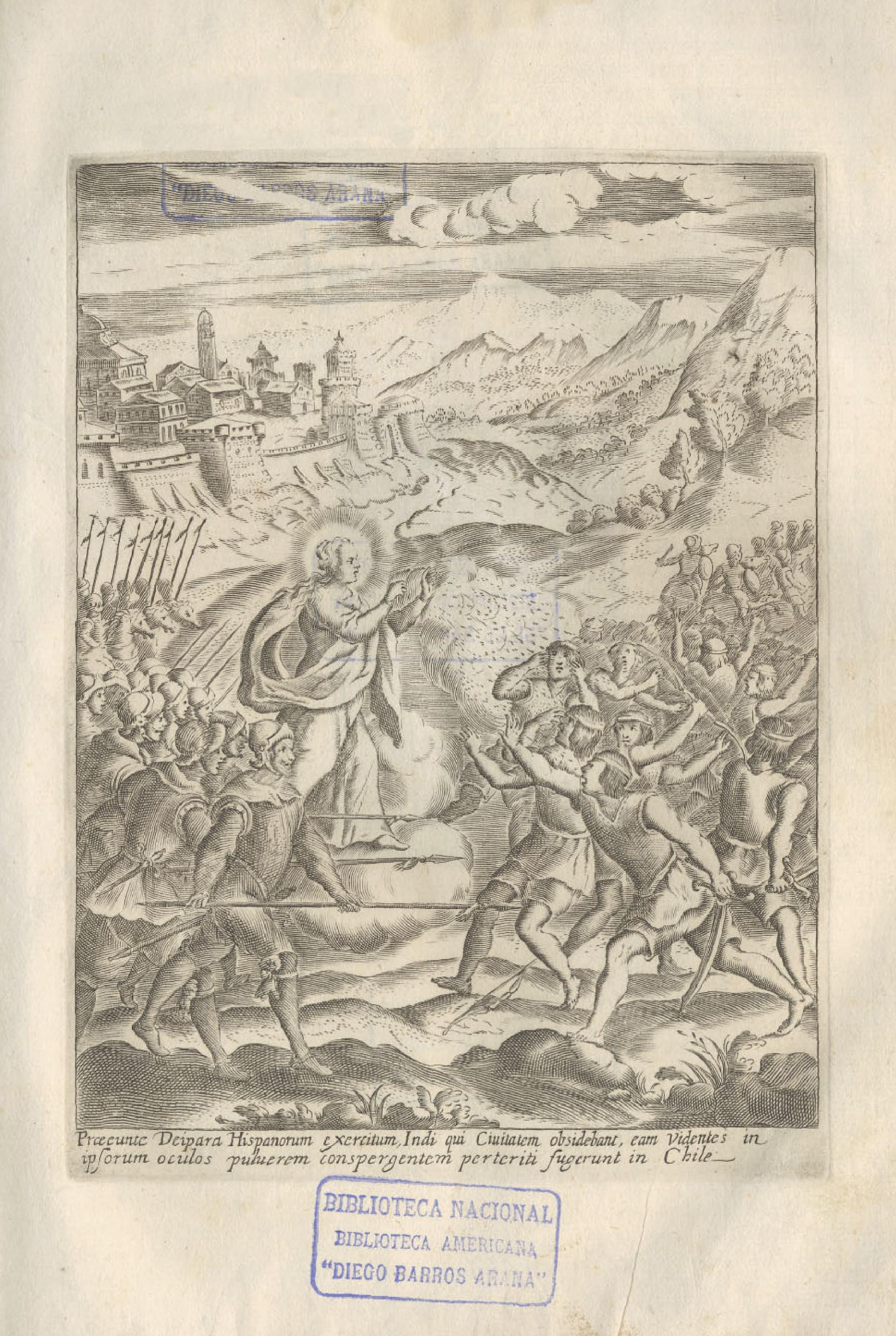 Enfrentamiento entre españoles e indígenas hacia 1640