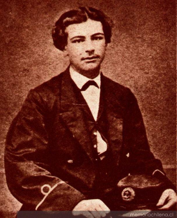 Arturo Prat a la edad de 16 años, como guardiamarina