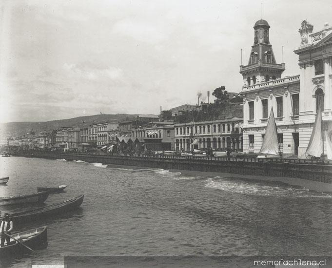 Malecón de Valparaíso, ca. 1900