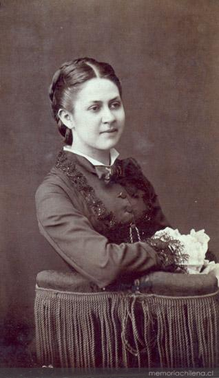 Retrato De Mujer Hacia 1870 Memoria Chilena Biblioteca Nacional