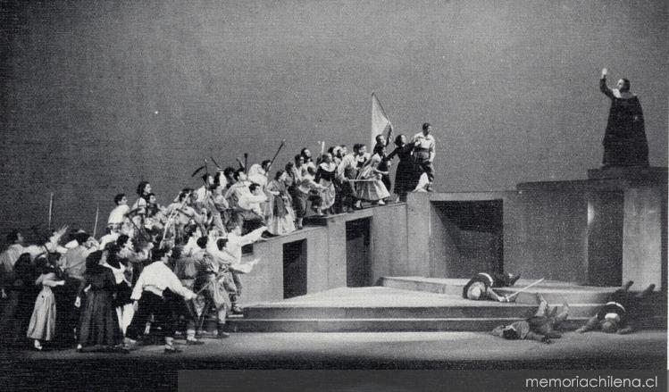 Fuenteovejuna. Montaje del Teatro Experimental de la Universidad de Chile, 1952