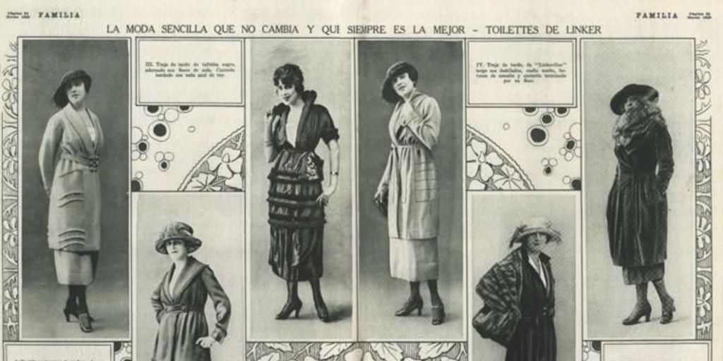 La moda sencilla que no cambia, 1920 - Memoria Chilena