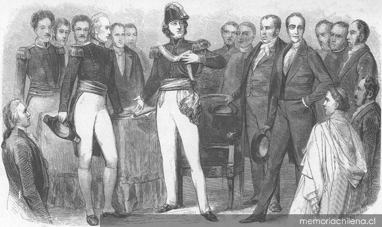 Renuncia de Bernardo O'Higgins, 1823