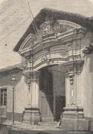 Casa antigua de construcci n espa ola santiago memoria for Construccion de piscinas santiago chile