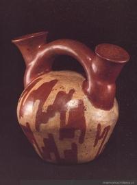 Botella asa-puente : cultura El Molle (0-700 d.C)