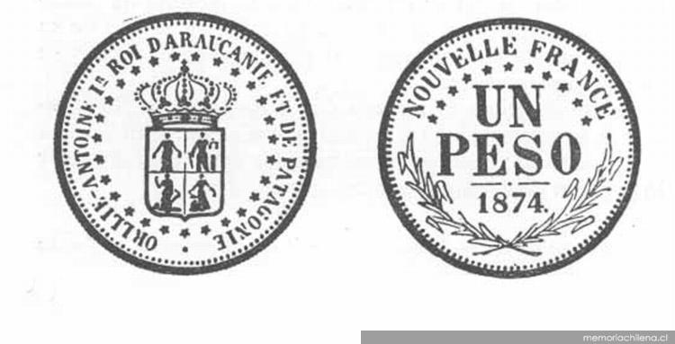Patagonia1874 y la Reino de Monedas la Araucanía de de 5AjL3Rq4