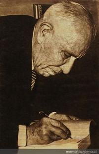 Francisco Encina en su vejez, hacia 1960