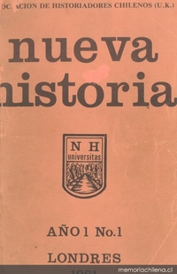 Resultado de imagen para 1981 Se funda en Londres la revista Nueva Historia