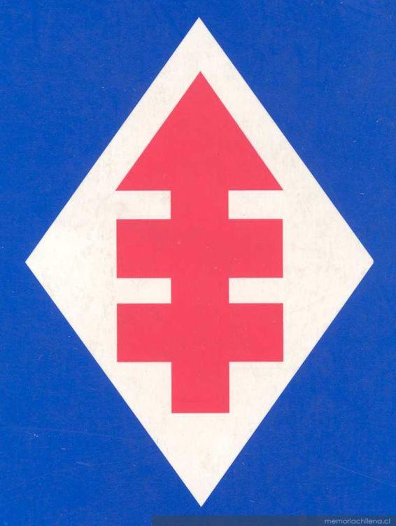el símbolo de la dc la flecha roja memoria chilena biblioteca
