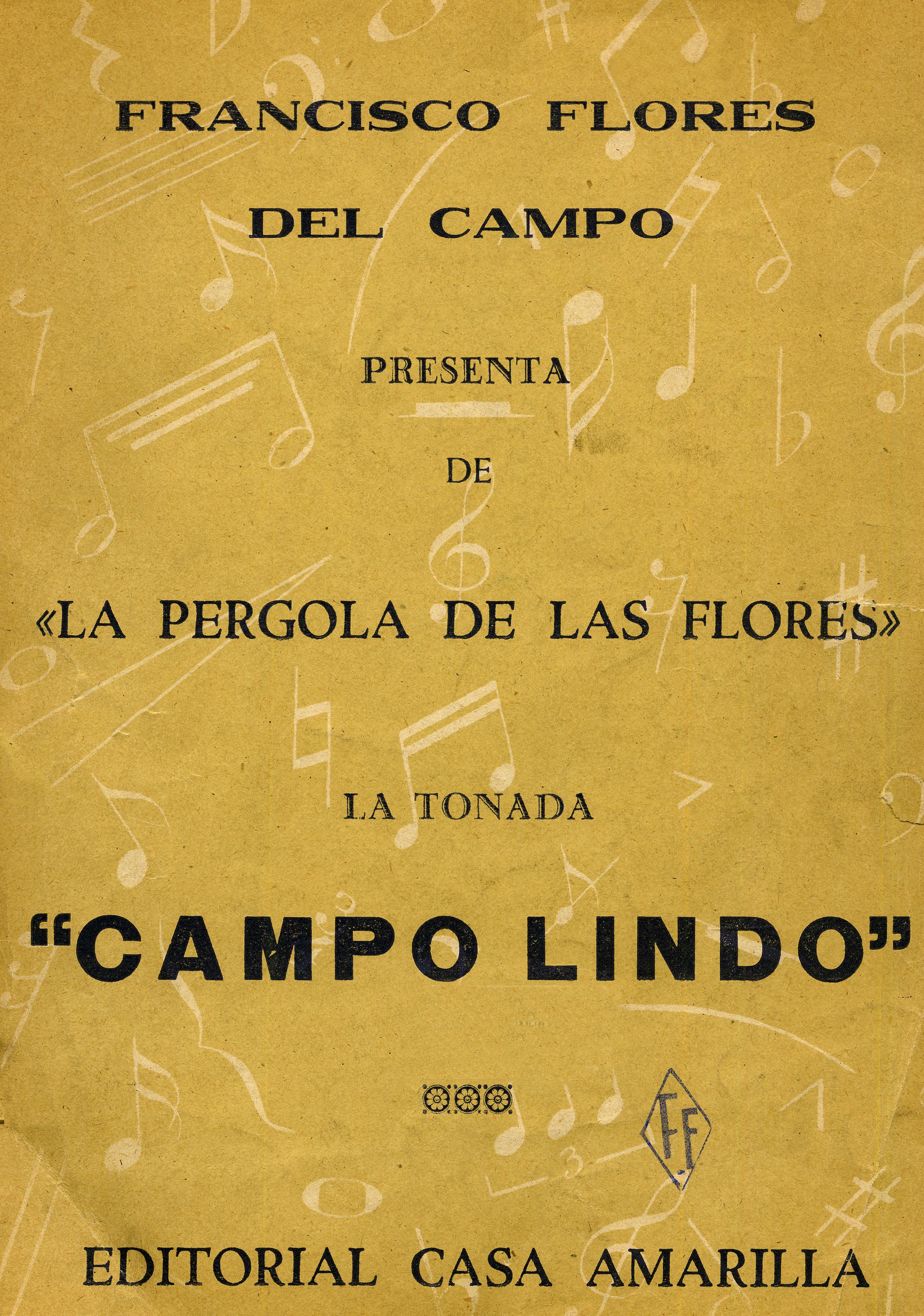 Campo lindo m sica tonada para canto y piano de la for Casa amarilla musica