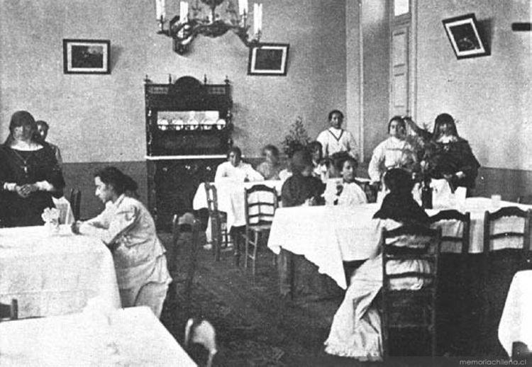 Casa de orates comedor de las pensionistas ca 1901 for Comedor vintage chile