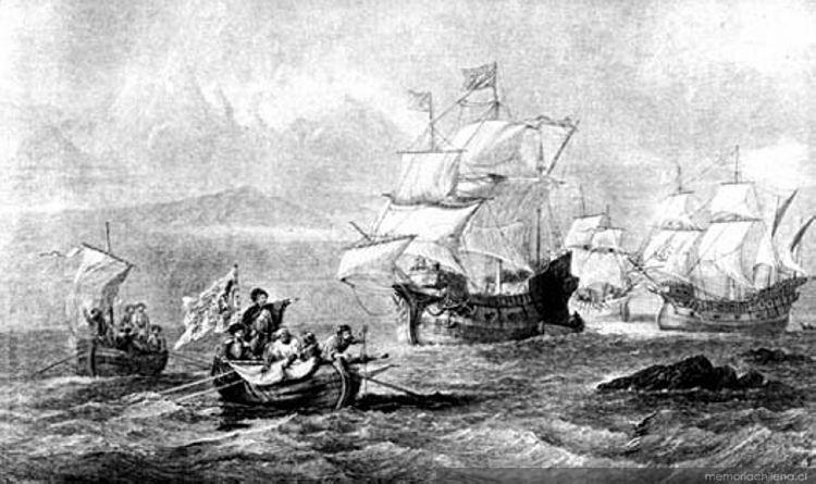 Resultado de imagen para Descubrimiento del Estrecho de Magallanes