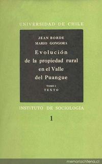 Evolución de la propiedad rural en el Valle de Puangue