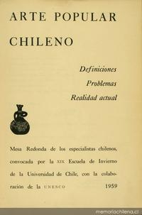 Condiciones actuales del arte popular en Chile