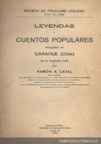 Tradiciones, leyendas y cuentos populares recogidos de la tradición oral en Carahue (Chile)