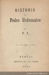 Historia de Pedro Urdemales