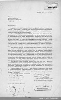 Al Se Or Ministro Del Interior Ricardo Garc A Rodriguez