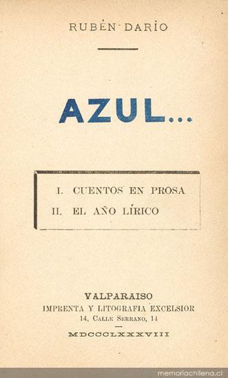 Azul - Memoria Chilena, Biblioteca Nacional de Chile