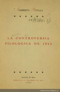 La controversia filológica de 1842