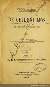 Lexicografía chilena - Memoria Chilena, Biblioteca Nacional