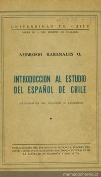 Introducción al estudio del español de Chile