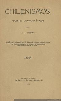 Chilenismos : apuntes lexicográficos