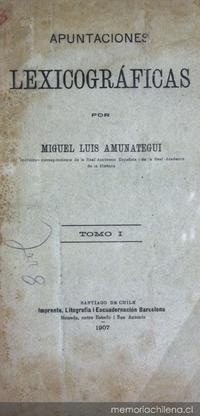Apuntaciones lexicográficas