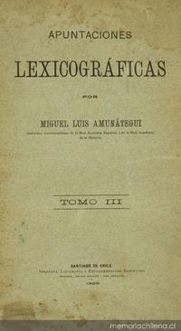 Apuntaciones lexicográficas: v. 3