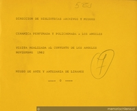 Cerámica perfumada y policromada: Los Angeles:  visita realizada al convento de Los Angeles:  noviembre 1982