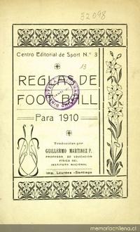 Reglas de Foot-Ball para 1910