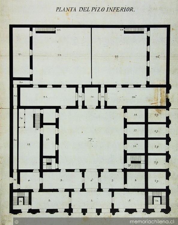 Planta del pizo inferior edificio del cabildo de for Edificio de los azulejos
