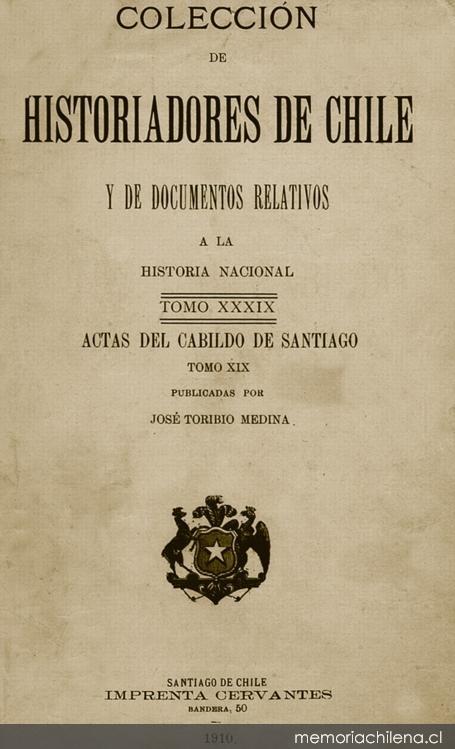 Actas del Cabildo : año de 1810 - Memoria Chilena, Biblioteca