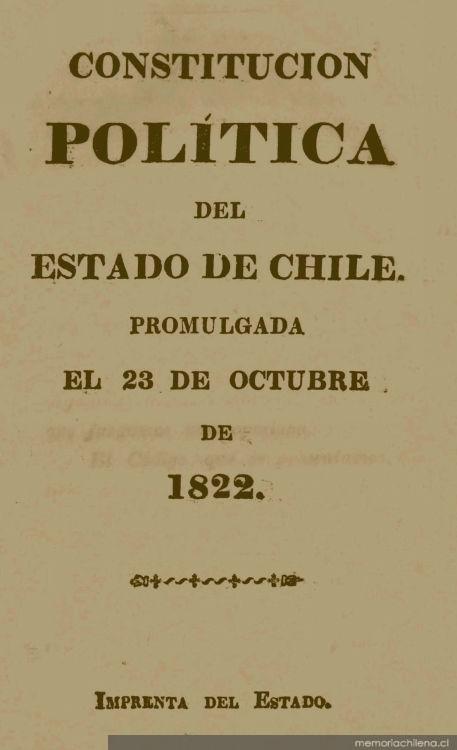 Constitución política del Estado de Chile : promulgada el