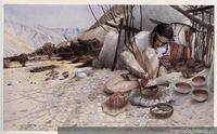 Recreación ceramista diaguita, período agroalfarero tardío : 1200-1470 d. C.