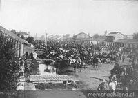 Conglomeración en Chillán, 1906