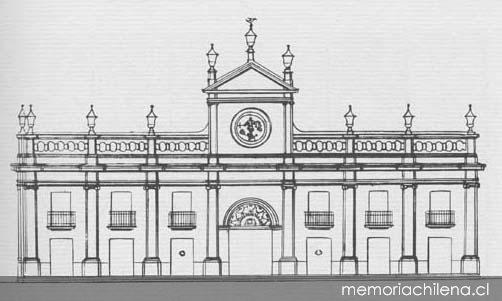 Edificio del Palacio del Real Tribunal del Consulado concluido en
