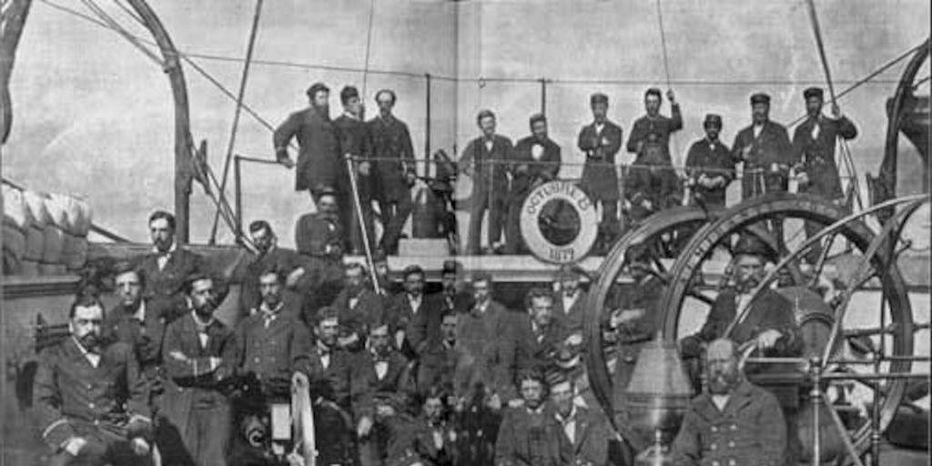 Oficialidad Del Acorazado Almirante Cochrane  Combate