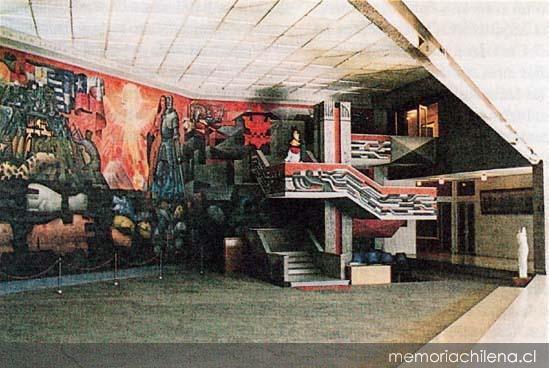 El mural presencia de am rica latina en la casa del arte for Mural de la casa del migrante