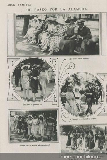 Paseo por la alameda 1920 memoria chilena biblioteca for 1500 salon alameda